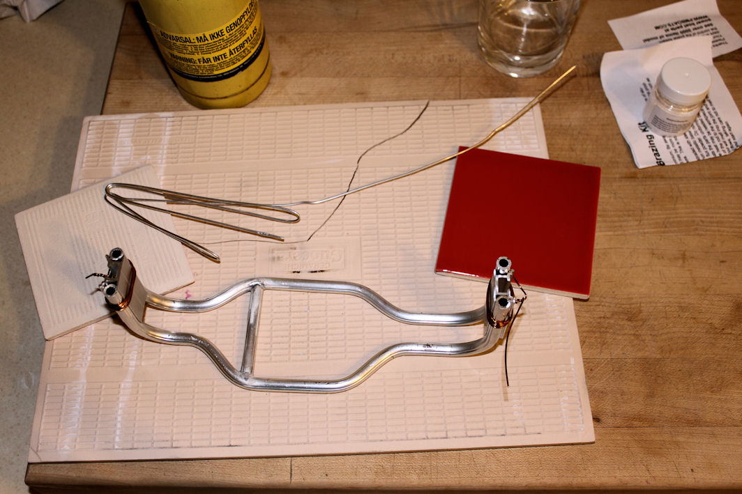 Brazing the frame using Mapp gas
